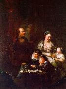 Anton  Graff The Artist's Family before the Portrait of Johann Georg Sulzer oil painting artist