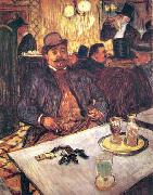 Henri  Toulouse-Lautrec M. Boileau Au Cafe oil painting reproduction