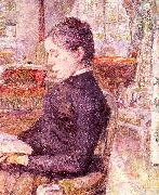 Henri  Toulouse-Lautrec The Reading Room at the Chateau de Malrome oil painting picture wholesale
