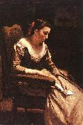 Jean Baptiste Camille  Corot The Letter_3 oil painting