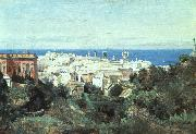Jean Baptiste Camille  Corot View of Genoa oil painting picture wholesale