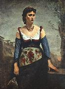 Jean Baptiste Camille  Corot Agostina2 France oil painting reproduction