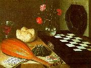 Lubin Baugin Still Life with Chessboard oil painting artist