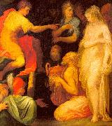 ABBATE, Niccolo dell The Continence of Scipio oil