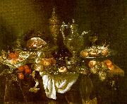 Abraham Hendrickz van Beyeren Banquet Still Life France oil painting reproduction