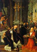 Adriaen Isenbrandt The Mass of St.Gregory oil