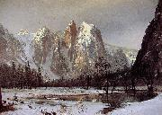 Albert Bierstadt Cathedral Rock, Yosemite Valley oil painting picture wholesale