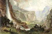 Albert Bierstadt The Domes of the Yosemites oil painting