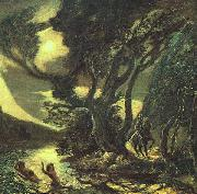 Albert Pinkham Ryder Siegfried and the Rhine Maidens oil