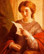 Alfred Chalon Girl Reading a Letter oil painting