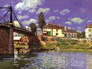 Alfred Sisley The Bridge at Villeneuve la Garenne oil painting picture wholesale