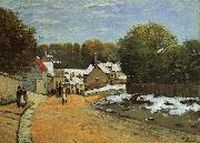 Alfred Sisley Early Snow at Louveciennes oil painting picture wholesale
