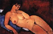 Amedeo Modigliani Nude on a Blue Cushion oil painting picture wholesale