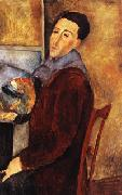 Amedeo Modigliani self portrait oil