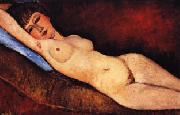 Amedeo Modigliani Reclining Nude on a Blue Cushion oil painting picture wholesale