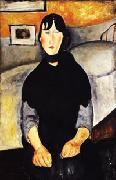 Amedeo Modigliani Young Woman of the People oil painting picture wholesale