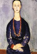 Amedeo Modigliani Woman with Red Necklace oil painting picture wholesale