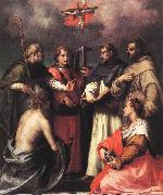 Andrea del Sarto Disputation over the Trinity oil painting picture wholesale