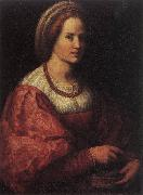 Andrea del Sarto Portrait of a Woman with a Basket of Spindles oil painting picture wholesale