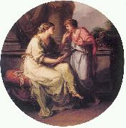 Angelica Kauffmann Papirius Pratextatus Entreated by his Mother to Disclose the Secrets of the Deliberations of the Rom oil