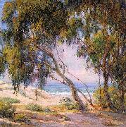 Anna Althea Hills Beside the Sea, Laguna Beach oil