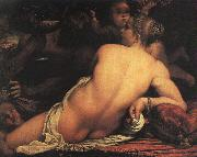 Annibale Carracci Venus with Satyr and Cupid oil