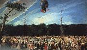 Antonio  Carnicero Balloon Ascent at Aranjuez oil painting