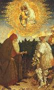 Antonio Pisanello The Virgin and the Child with Saints George and Anthony Abbot oil painting