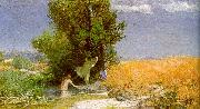 Arnold Bocklin Nymphs Bathing France oil painting reproduction
