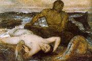 Arnold Bocklin Triton and Nereid France oil painting reproduction