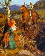 Arthur Hughes Gareth Helps Lyonors and Overthrows the Red Knight oil