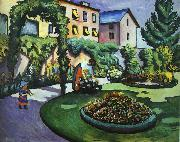 August Macke The Mackes' Garden at Bonn oil