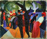 August Macke A Stroll on the Bridge oil painting picture wholesale