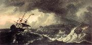 BACKHUYSEN, Ludolf Ships Running Aground in a Storm  hh oil