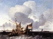 BACKHUYSEN, Ludolf Ships on the Zuiderzee before the Fort of Naarden fgg oil