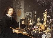 BAILLY, David Self-Portrait with Vanitas Symbols dddw oil painting picture wholesale
