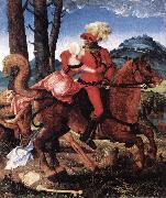 BALDUNG GRIEN, Hans The Knight, the Young Girl, and Death ddww oil