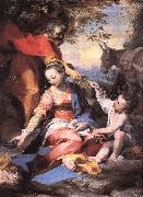 BAROCCI, Federico Fiori Rest on the Flight to Egypt sw oil painting