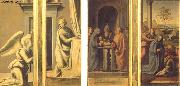 BARTOLOMEO, Fra The Annunciation (front), Circumcision and Nativity (back) oil