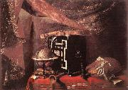 BASCHENIS, Evaristo Still-life with Instruments ll oil
