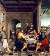BASSANO, Jacopo Supper at Emmaus sf oil painting