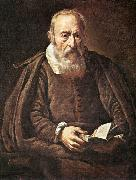 BASSETTI, Marcantonio Portrait of an Old Man with Book g oil painting artist