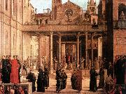 BASTIANI, Lazzaro The Relic of the Holy Cross is offered to the Scuola di S. Giovanni Evangelista oil painting artist