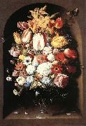BEERT, Osias Bouquet in a Niche oil painting