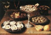 BEERT, Osias Still-Life with Oysters and Pastries oil painting