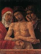 BELLINI, Giovanni Dead Christ Supported by the Madonna and St John (Pieta) fd oil painting artist