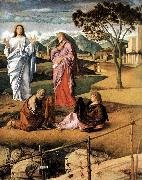 BELLINI, Giovanni Transfiguration of Christ (detail)  ytt oil painting picture wholesale