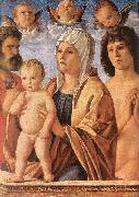 BELLINI, Giovanni Madonna with Child and Sts. Peter and Sebastian fgf oil painting picture wholesale