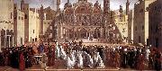 BELLINI, Giovanni Sermon of St Mark in Alexandria abc oil painting picture wholesale
