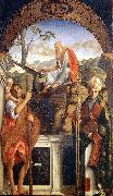 BELLINI, Giovanni Sts Christopher, Jerome and Ludwig of Toulouse oil painting picture wholesale